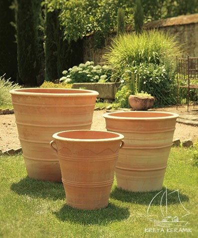"Pflanzgefäß ""Sorbus"" B=40 cm   Kreta Keramik"